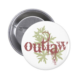 Outlaw & Green Leaf Button