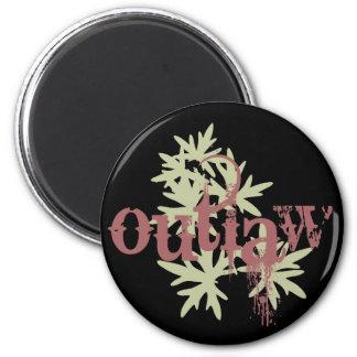Outlaw & Green Leaf Fridge Magnet