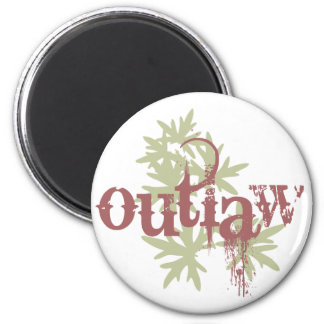 Outlaw & Green Leaf Fridge Magnets
