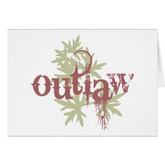 Outlaw & Green Leaf Greeting Card