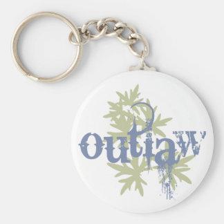 Outlaw & Green Leaf Key Chains