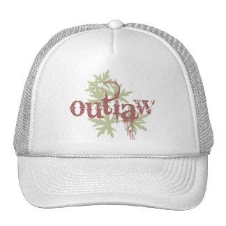Outlaw & Green Leaf Mesh Hat