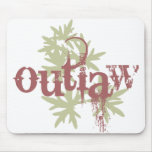Outlaw & Green Leaf Mouse Pad