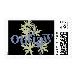 Outlaw & Green Leaf Postage Stamp