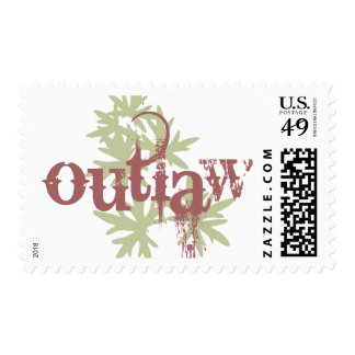 Outlaw & Green Leaf Stamp