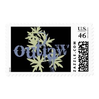 Outlaw & Green Leaf Postage Stamp