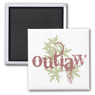 Outlaw & Green Leaf Refrigerator Magnets