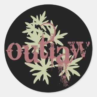 Outlaw & Green Leaf Sticker