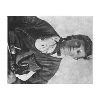 Outlaw Jesse James Portrait Photograph Canvas Print
