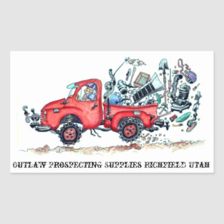 Outlaw Prospecting Supplies Truck Sticker
