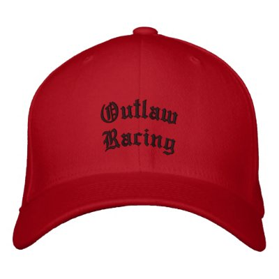 Outlaw Racing Embroidered Baseball Cap
