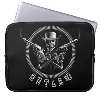 Outlaw Skeleton Laptop Sleeves