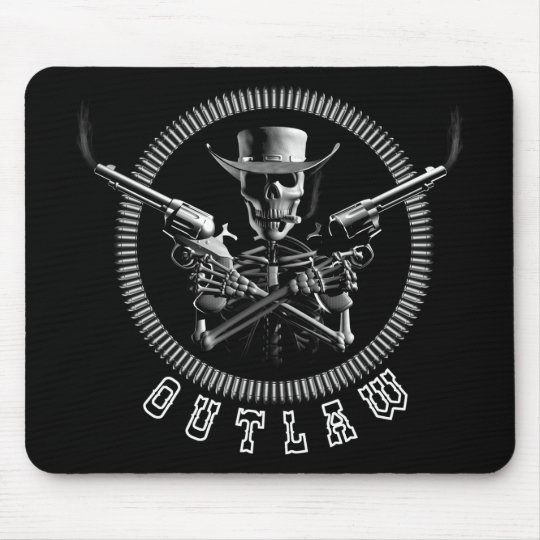 Outlaw Skeleton Mouse Pad