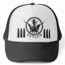 Outlaw Skeleton Truckers Trucker Hat
