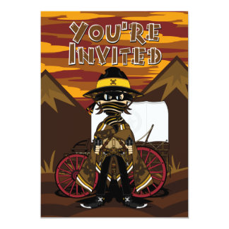 Outlaw Skull Cowboy Invite