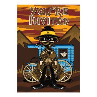 Outlaw Skull Cowboy Invite