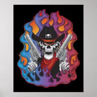 Outlaw Skull Poster
