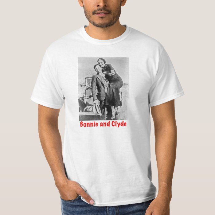 outlaws bonnie and clyde t shirt zazzle. Black Bedroom Furniture Sets. Home Design Ideas
