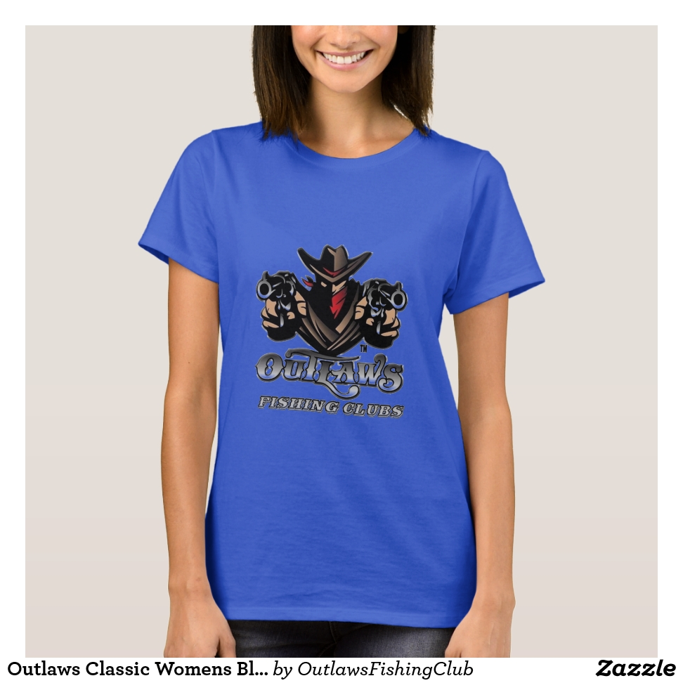 Outlaws Classic Womens Blue T Shirt - Best Selling Long-Sleeve Street Fashion Shirt Designs