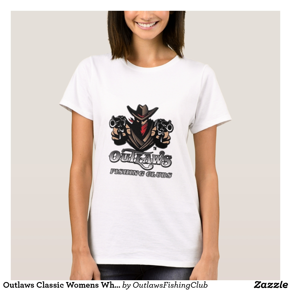 Outlaws Classic Womens White T Shirt - Best Selling Long-Sleeve Street Fashion Shirt Designs