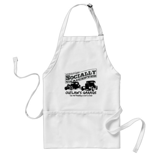 Outlaw's Garage. Socially unaccepted Hot Rods Adult Apron