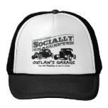 Outlaw's Garage. Socially unaccepted Hot Rods Trucker Hat