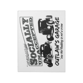 Outlaw's Garage. Socially unaccepted Hot Rods Notepad