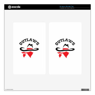 OUTLAWS DECAL FOR KINDLE FIRE