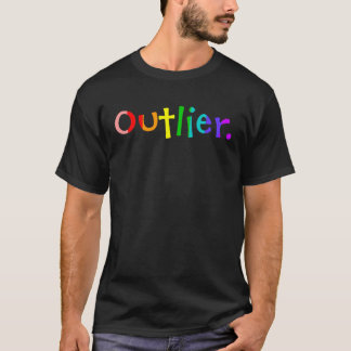 Outlier Rainbow Letters Dark Shirt