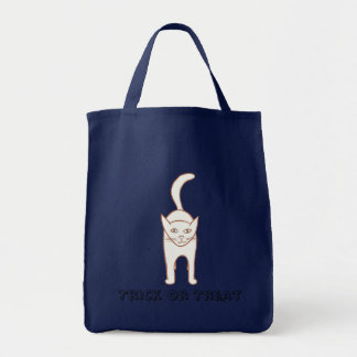 Outline art drawing, Cat Halloween canvas bags