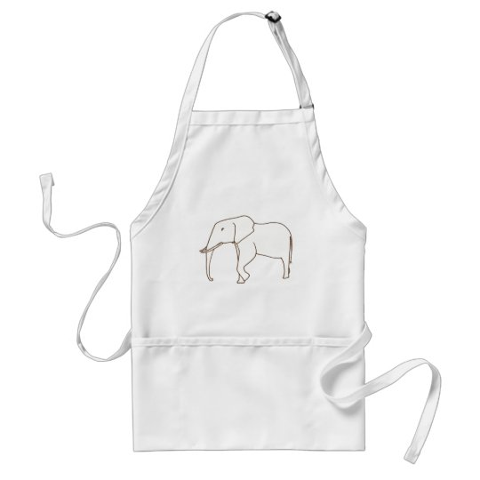Outline Art  Drawing of an elephant, aprons