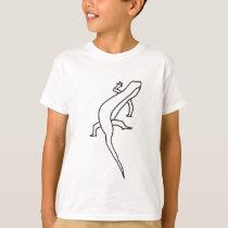Outline Art, drawing of lizard tee shirt
