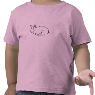 Outline art, drawing of rabbit coloring shirts
