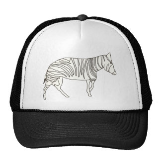 Outline Art Drawing of Zebra on Hats