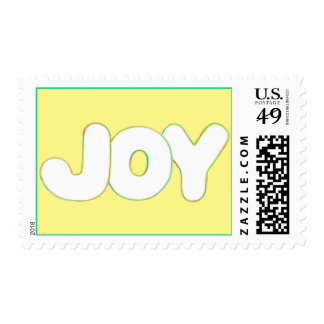 Outline Art - Joy - word in colors, postage stamps