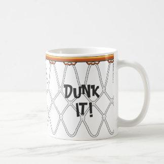 ¡outline_Dunk de Net_black del aro de baloncesto Taza De Café