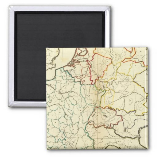 Outline Europe 2 Inch Square Magnet
