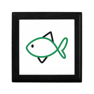 Outline Fish Jewelry Box