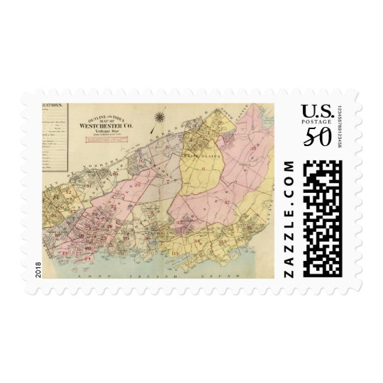 Outline, index map Westchester County Postage