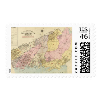 Outline index map Westchester County Postage