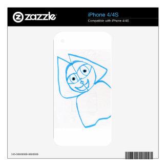 Outline Katzen iPhone 4S Decal