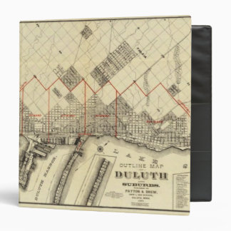 Outline Map of Duluth and Suburbs Binder