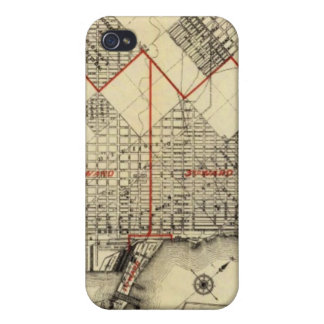 Outline Map of Duluth and Suburbs iPhone 4/4S Cover