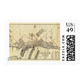 Outline Map of Duluth and Suburbs Postage Stamp