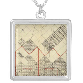 Outline Map of Duluth and Suburbs Silver Plated Necklace