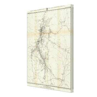 Outline Map of Washoe District Canvas Print