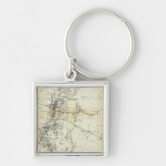 Outline Map of Washoe District Keychain
