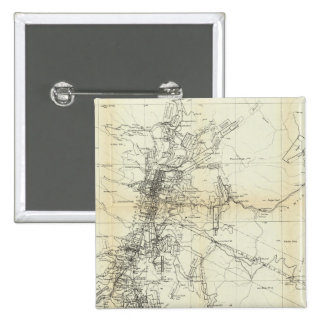 Outline Map of Washoe District Pinback Button