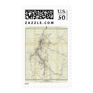 Outline Map of Washoe District Postage