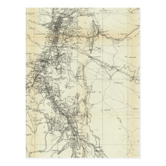 Outline Map of Washoe District Postcard